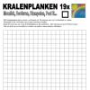 Kralenplank werkblad vierkant 19
