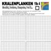 Kralenplank werkblad vierkant 4×19