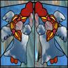 Engel glas in loodeffect