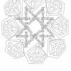 Kleurplaat Mandala Diamant met tekst