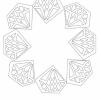 Kleurplaat Mandala Diamant blanco