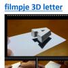 Filmpje 3D letter
