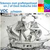 VOC schepen Tekenen met inkt of grafietpotlood