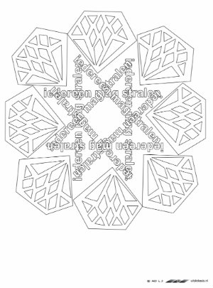 Kleurplaat Mandala Diamant Met Tekst Anneke Van Der Weg